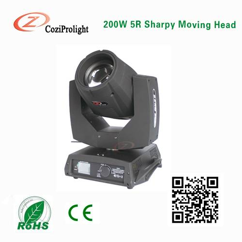 2016 hot sale 200w sharpy 5r moving head beam disco light stage light