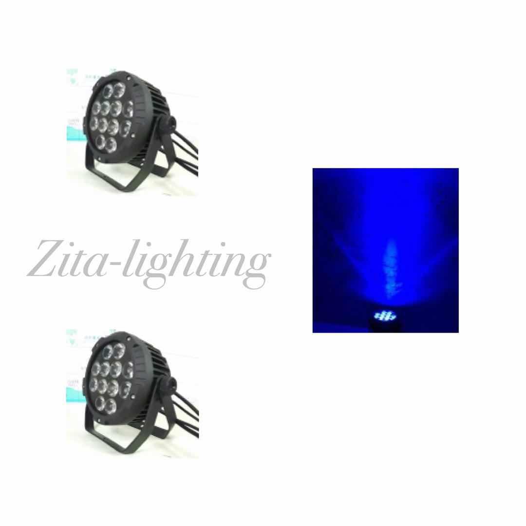 12x10w flat waterproof par light