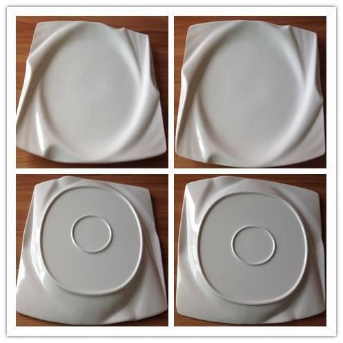 Rectangle revolved plate