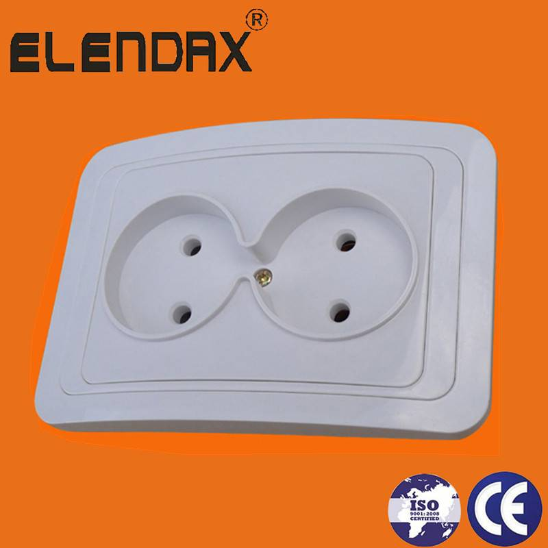 2 pin socket outlet double