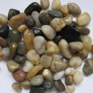 Mix color pebble stone