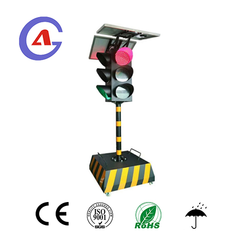 3 section 4 way portable Led Traffic Light from Shenzhen factory