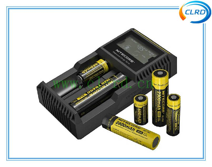 Nitecore D2 LCD Microcomputer Controlled Intelligent Charger Li-ion,NiMH Battery Charge Suitable 186