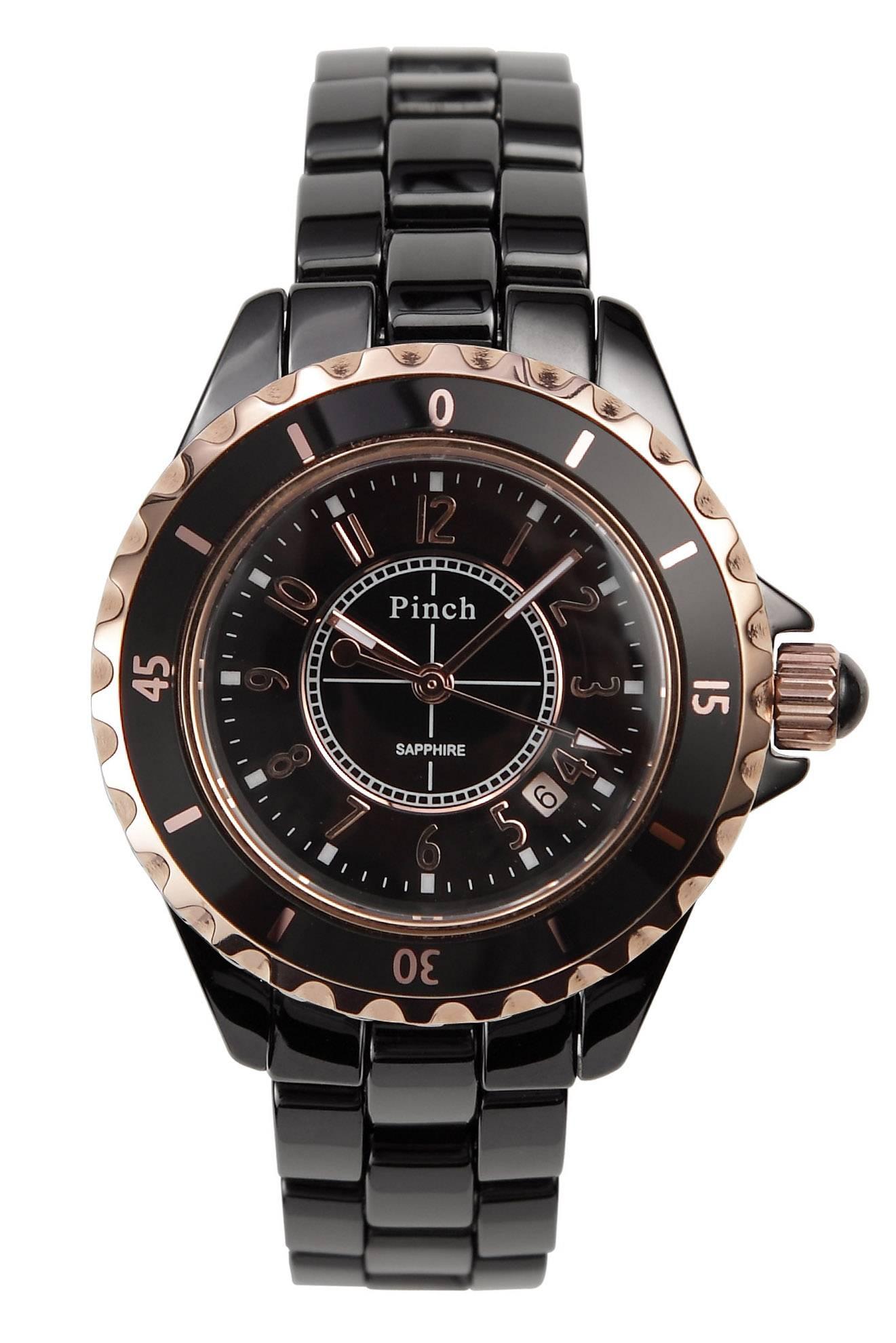 Men's Ceramic Black Ceramic Watch (CW004B)