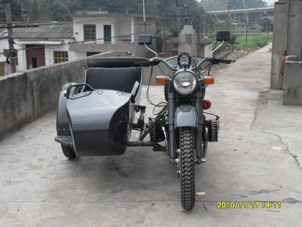 Customized 750cc Grey Color Motorcycle Sidecar