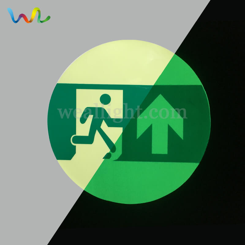 Green Exit Sign, fire equipment signs, Photoluminescent Fire Exit Signs