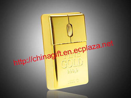 Gold Bar Wireless USB Mouse