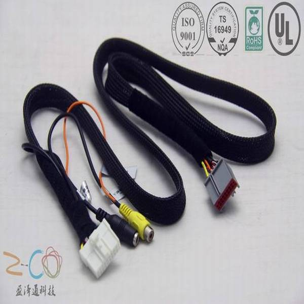 automotive audio braid sleeve cable assembly