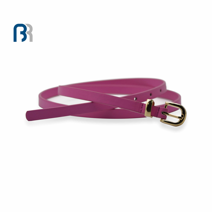 Ladies PU with Metal Loop Belt