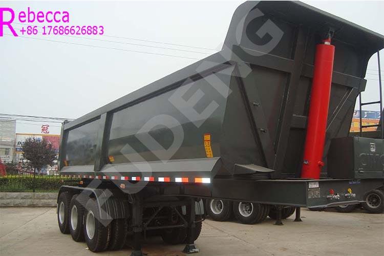 Heavy duty 50 tons 3 axle tipper trailer tipping dumper semi trailer for sale
