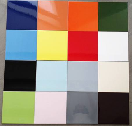 200x200mm Bathroom and Kitchen Colour Ceramic Decorative Wall Tiles