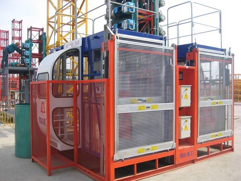 single cage SC200P 2t construction elevator