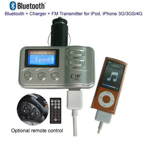 Multi-functional Car Accessories for iPod/iPhone 3G/3GS/4G,
