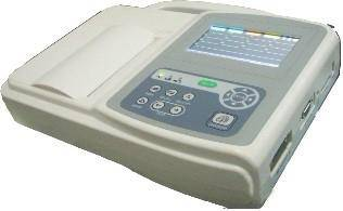 Three channels ECG machine with touch screen