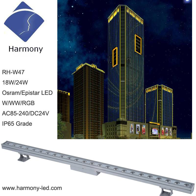 Waterproof IP65 18W 24W LED Wall Washer Lighting