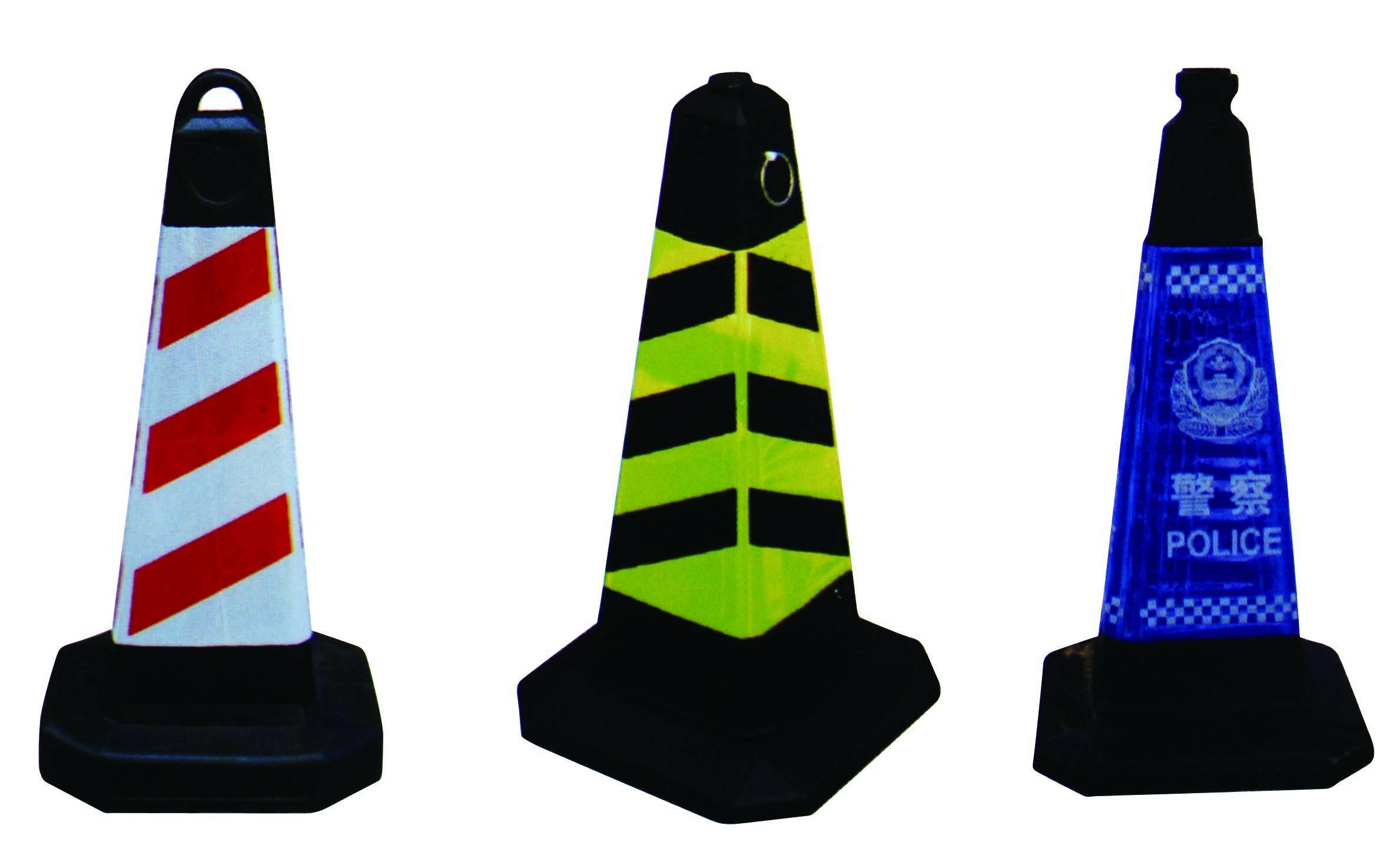 PVC road safety cone sign