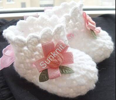Baby Girl Shoes Crochet