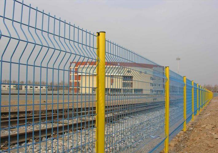 High security polyester curvy welded mesh fence hook style wire mesh fence