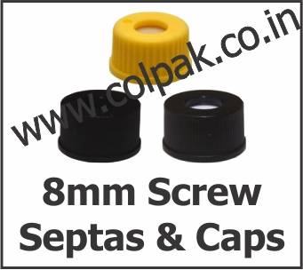 8mm Screw Thread Caps Septas Seals