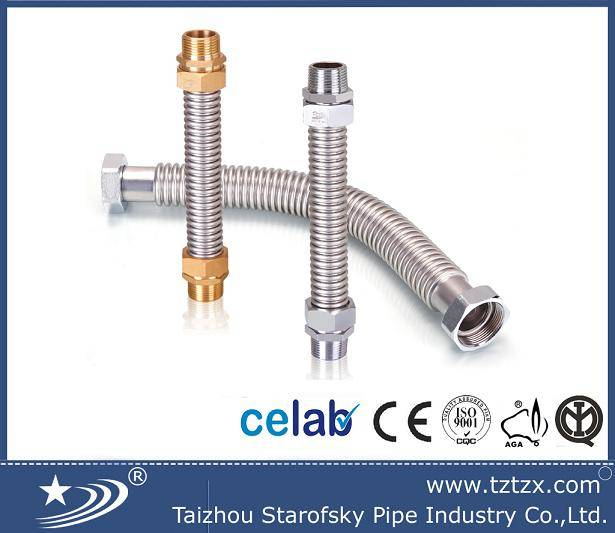 stainless steel304 flexible corrugated air conditional hose