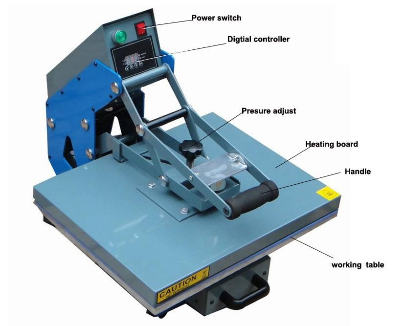 Semi-Auto Open Heat Press Machine CE Approved t Shirt Heat Press Machine, Rhinestone heat transfers