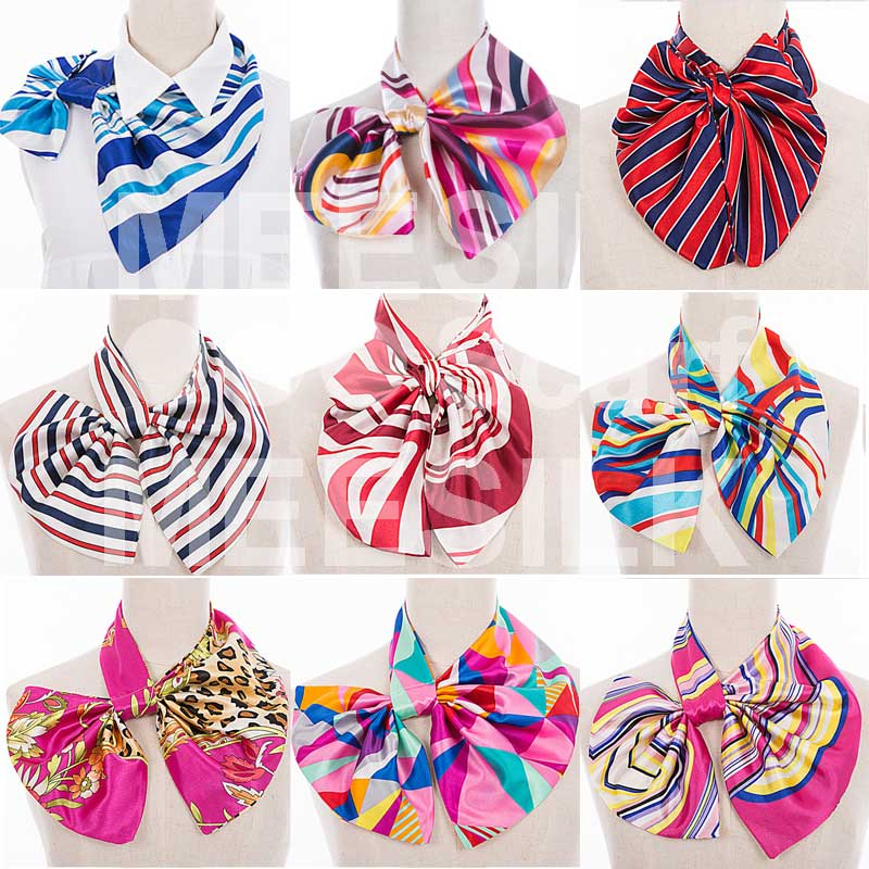 High Class Simple Style Candy Color 100% Silk Scarf