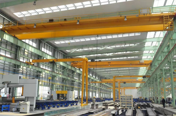 Workshop Heavy Duty Double Girder Overhead Bridge Crane Price