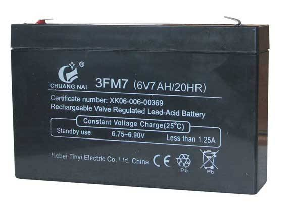 Long life VRLA sealed lead acid battery ups battery6V7AH