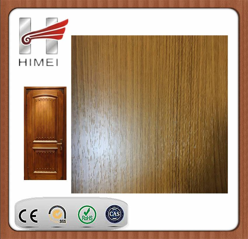 Wood grain laminated sheet for door