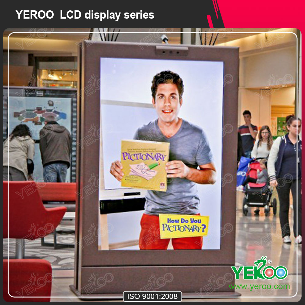 Shopping Mall TFT Type Advertising Kiosk Touch Screen LCD Display