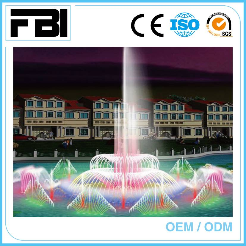 customized music fountain, with led lights