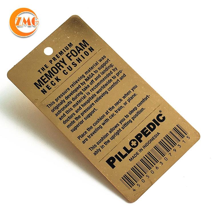 customized brand logo engraved cheap metal hang tag