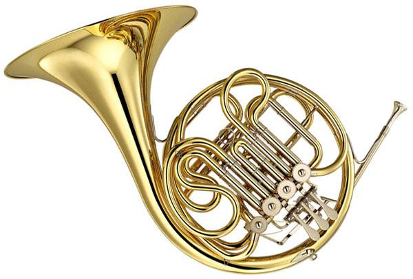 French horn gold lacquer  Gold brass material