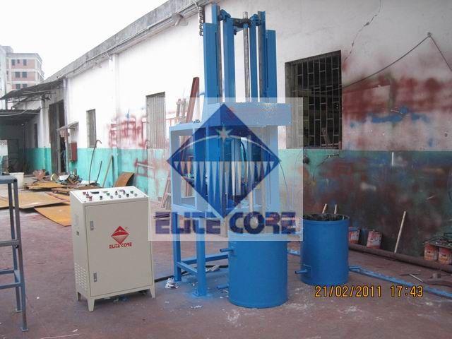 manual vertical foam foaming machine