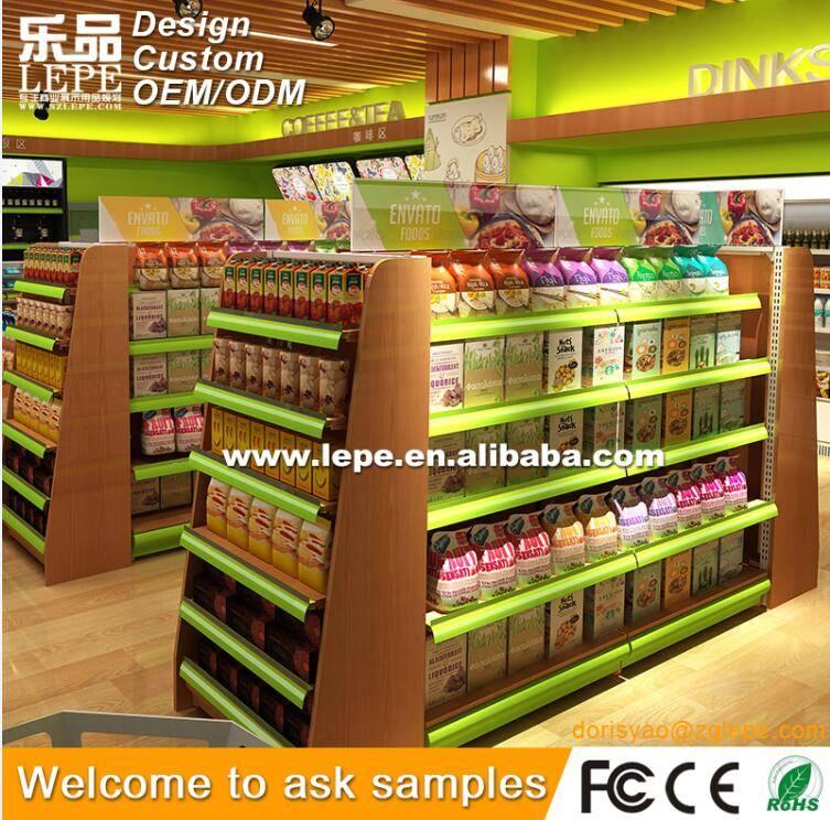 lepe store display wood rack and shelving