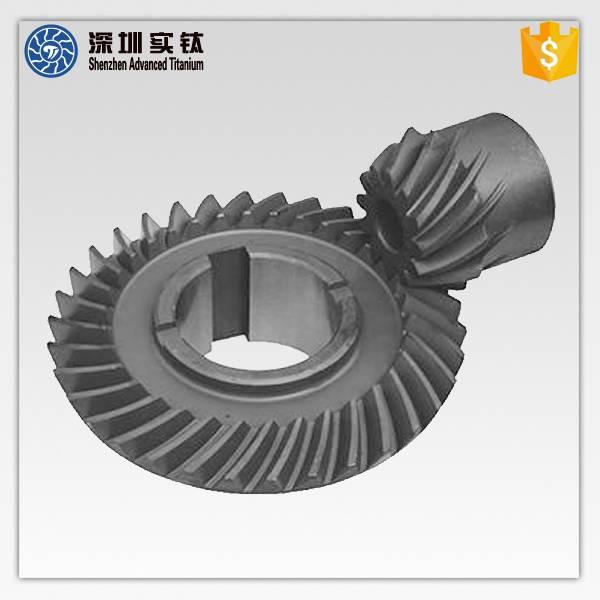 Titanium precision casting auto transmission gears with cnc service