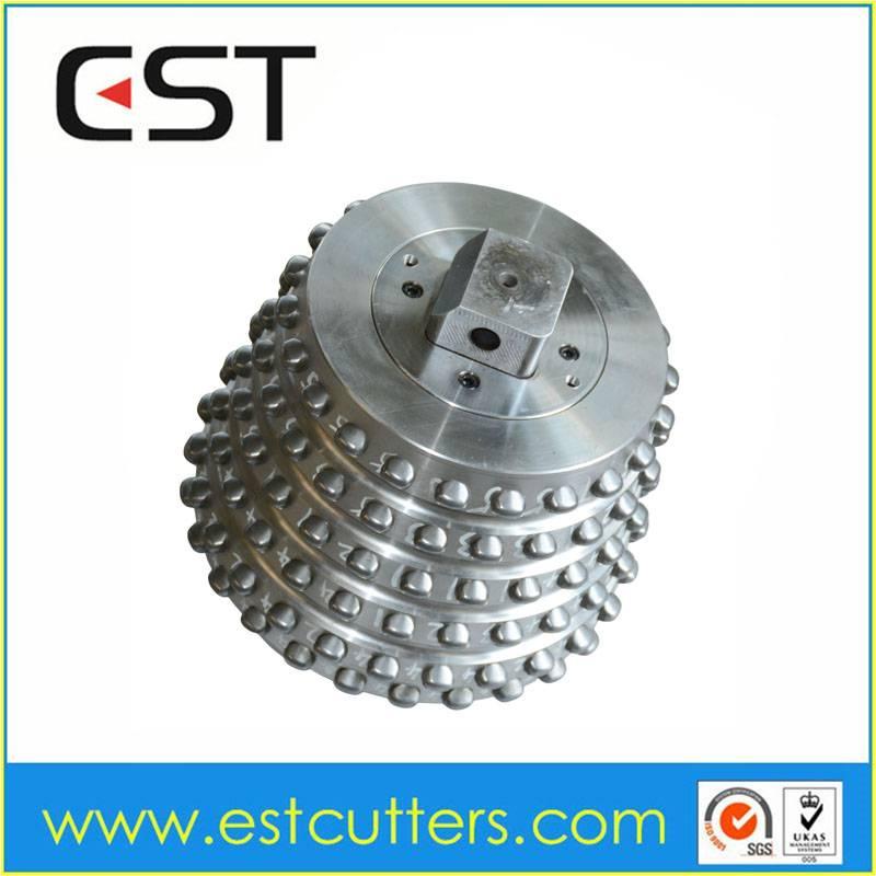 Tungsten carbide insert roller cutter for raise boring machine