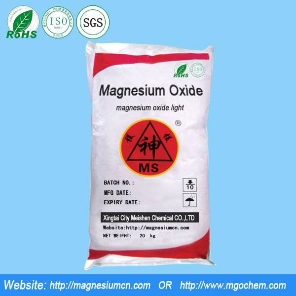 Magnesium oxide for grinding wheel