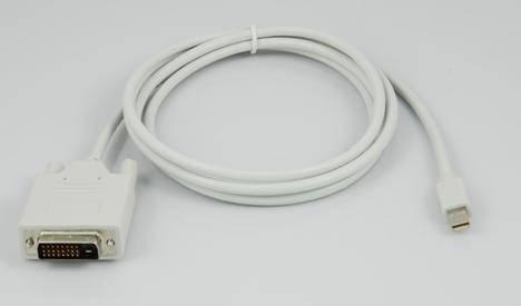 Mini DisplayPort M to DVI M Cable W/IC