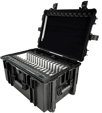 F1-10B Charging Cart for iPad - Tablet Trolley Lithium Battery Powered