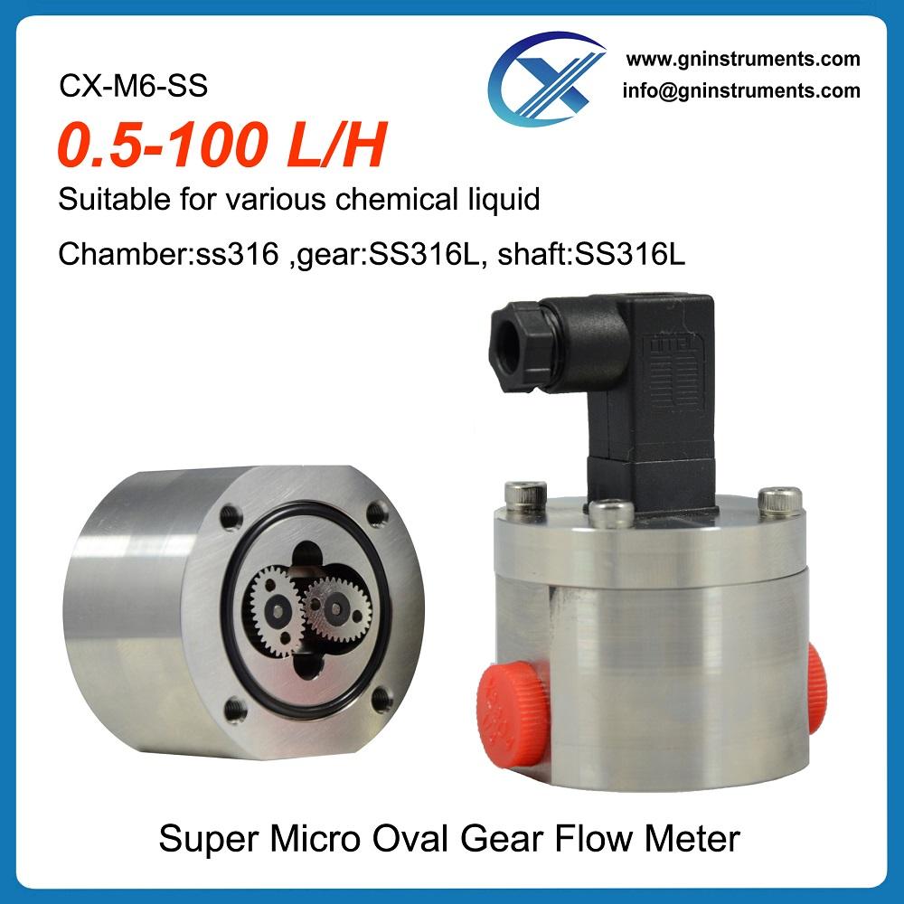 30 year's technology liquid mini low micro flow meter