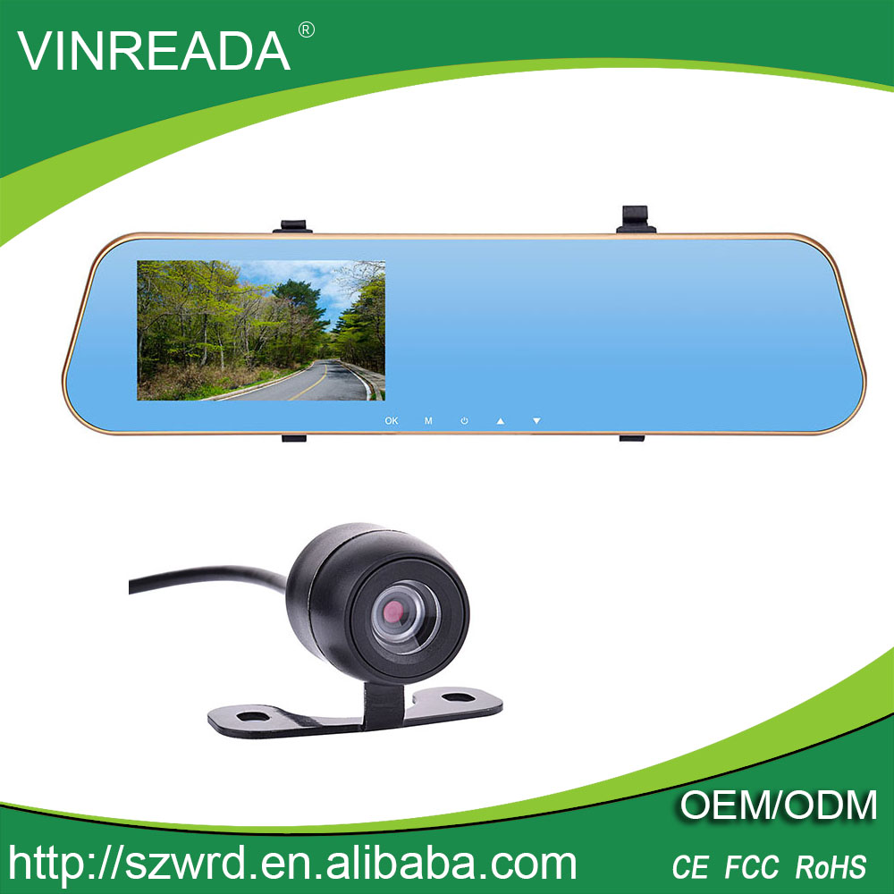 "Full 1080P HD Car Dash Camera Dual Lens Car DVR Traveling Data Recorder Video Black Box 4.3"" Screen"