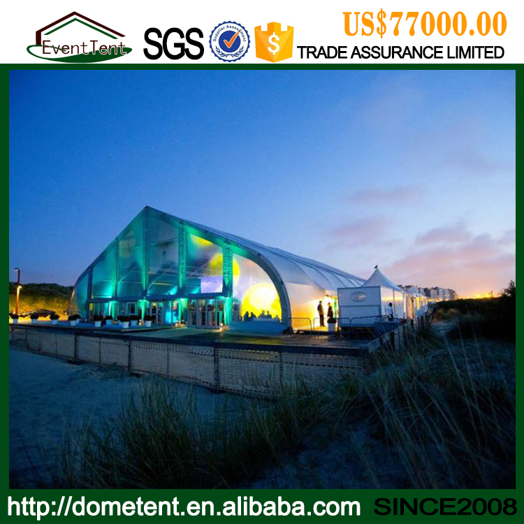 Big Heart Shaped Aluminum Aircraft Hangar Tent With PVC Cover For Parking Aircraft