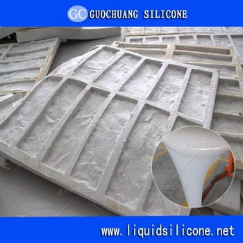 rtv condensation cure liquid silicone for concrete stone and rock veneer molds