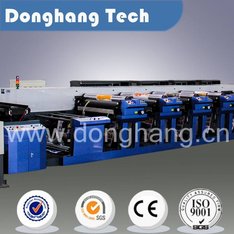 Automatic medium web flexo printing machine