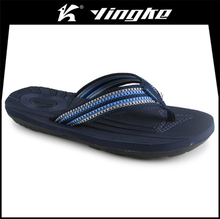 Promotion high quality black color custom printed eva slipper men flip flops beach