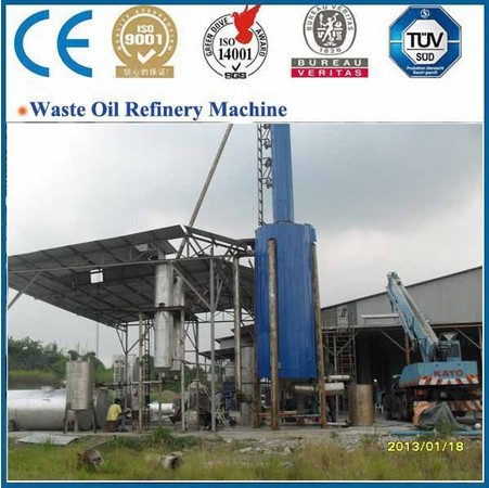 Crude Oil Refinery Equipment,Vacuum Oil Distillation Plant For Base Oil Recycling