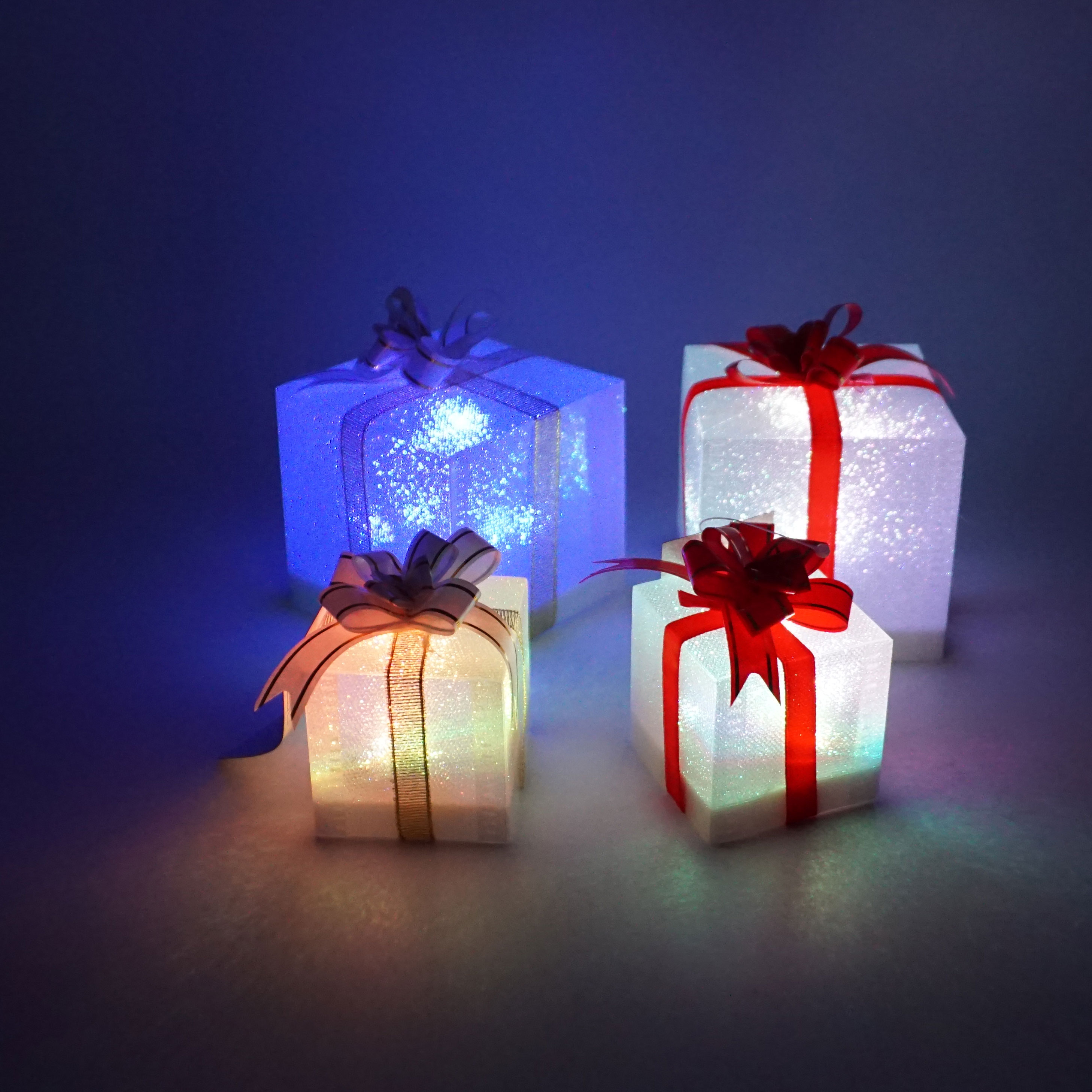 LED flashing gift box with color changing