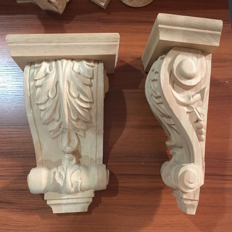 Chinese Supplier Antique Wood Carving Fireplace Corbels