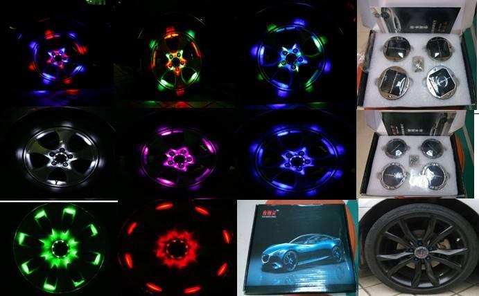 LED light of car wheels